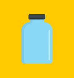 chemistry jar icon flat style vector image