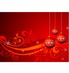 christmas illustration with red ball vector image