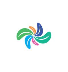 colorful leaves logo symbol element sign vector image