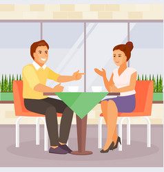 couple in a cafe vector image