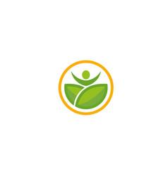 Creative body leaf logo vector