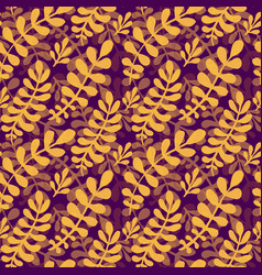 Dark autumn leaves pattern seamless texture in vector