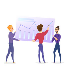 data analysis grath businessman character vector image