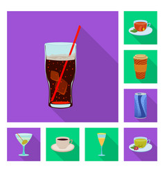 Design drink and bar icon set drink vector