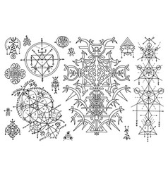 Design set with sacred geometry stmbols vector