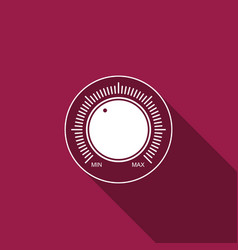 dial knob level technology settings icon vector image