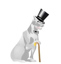 Dog in top hat vector