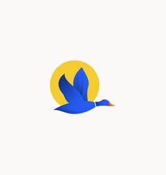 Duck logo icon template design vector