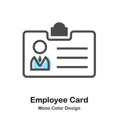 Employee card mono color vector