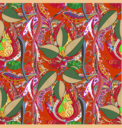 fall of the leaves seamless pattern for textile vector image