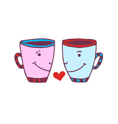 Funny cups icon cute printed art sticker vector