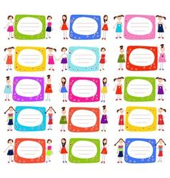 Girls Label vector image