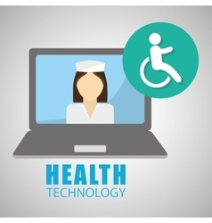 Health care design technology icon isolated vector image