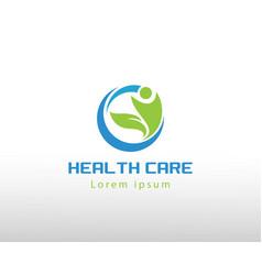 Health care logo creative care logo leave people vector