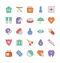 Health Colored Icons 2 vector