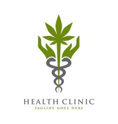 health symbol logo template vector image