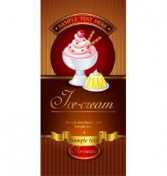 Icecream banner vector