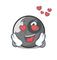 in love billiard ball mascot cartoon vector image