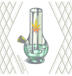 Large glass bong vector