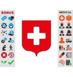 Medical Shield Icon vector