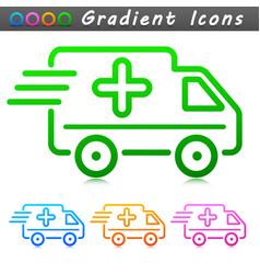 medical van symbol icon vector image