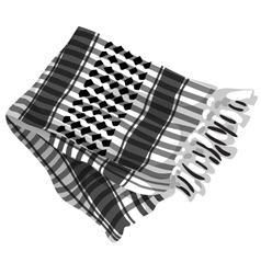 Mens scarf with black ornament isolated vector