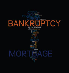 Mortgage after bankruptcy these steps could help vector