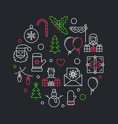 new year creative in thin line vector image
