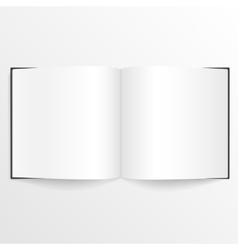 Opened blank book or magazine spread with cover vector image