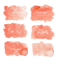 Orange watercolor background pastel watercolor vector