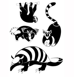 Original animal silhouettes set vector