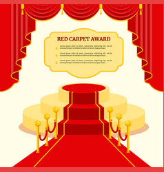 red award carpet vector image