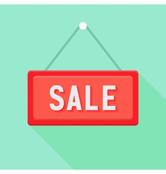 Red Sale Sign over Green vector