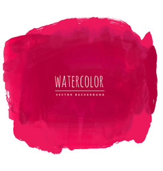 Red watercolor stain background vector