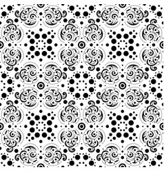 seamless abstract pattern in black and white vector image