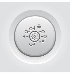 Security Settings Icon Grey Button Design vector