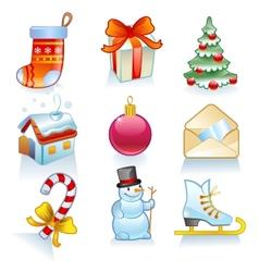 Set of Christmas symbols vector