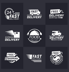 Set of delivery labels for online shopping vector