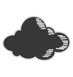 single cloud icon vector image