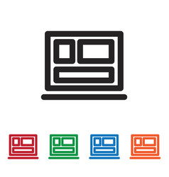 squares icon vector image