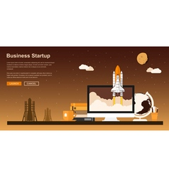 Startup project vector image
