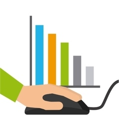 Statistics online information icon vector