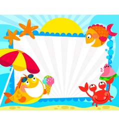 summer fish fraem vector image