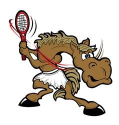 tennishorse vector image