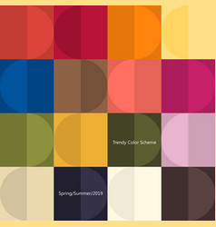 Trendy color poster by plain color patches vector