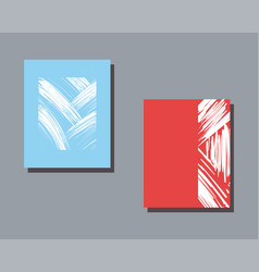 Two abstract captivating vector