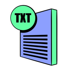 Txt file icon cartoon vector