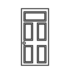Wooden door with glass icon outline style vector image