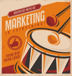 Advertising and marketing creative concept design vector image vector image