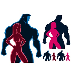 Fit Couple vector image vector image